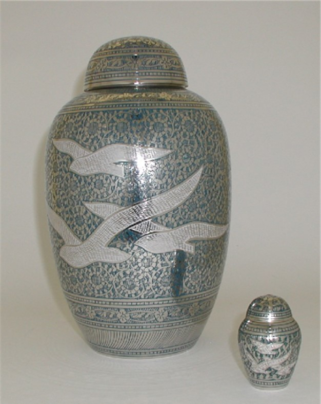 Brass Urn, Birds In Flight