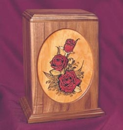 Urn Rose Bouquet, Walnut
